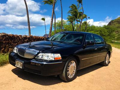 ハワイ貸切チャーターツアー:リンカーン・タウンカー